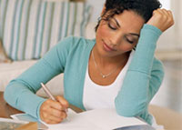 young-black-woman-writing